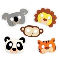 5 Dschungeltier Masken